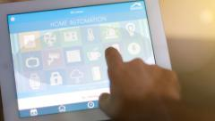 Smart home tablet PC Stock Footage