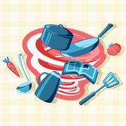 Mess in the Kitchen - stock illustration