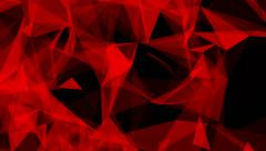 Abstract Background Triangles Background Plexus Red&Black Looped Stock Footage