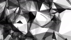Abstract Background Triangles Plexus Black&White Looped - stock footage