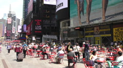 New York City Times Square midday in 4K - stock footage