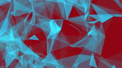 Abstract Background Triangles Background Plexus Blue&Red Looped Stock Footage
