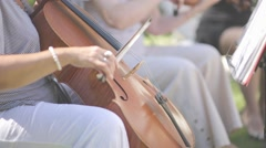woman playing on a cello (flat ungraded) - stock footage