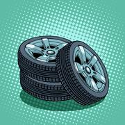 Stock Illustration of Tires spare wheel