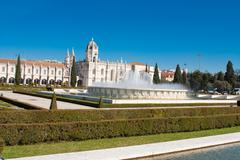The Hieronymites Monastery is located in Lisbon Portugal. Stock Photos