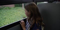 Bullying on the school bus - hair pulling - stock footage