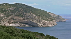 Cave in Coastline Porto Conte Sardinia Italy - 25FPS PAL Stock Footage
