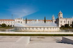 The Hieronymites Monastery is located in Lisbon Portugal. - stock photo