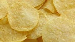 Tasty potato chips. Stock Footage