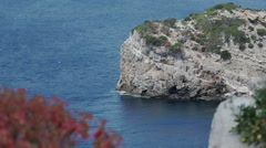 Coastal Rock Cliff Porte Conte Sardinia Italy - 25FPS PAL Stock Footage