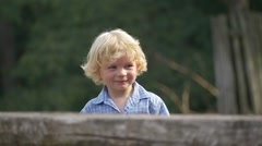 Stock Video Footage of Curly Blond Boy