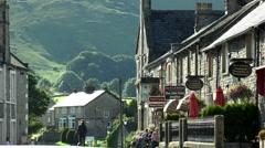 Street scene, Castleton, Peak District. - stock footage