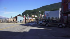 Main Street Ketchikan, Southeastern Alaska Stock Footage