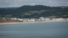 English Coastal City (Seaton) Stock Footage