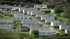 English Mobile Homes Park Stock Footage
