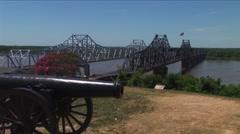 Vicksburg Canon Stock Footage