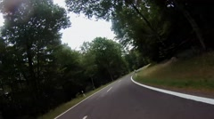 Fast biking the in the palatina forest Stock Footage