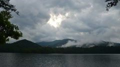 Lake santeetlah in smoky mountains Stock Footage