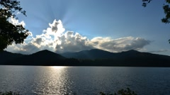 lake santeetlah in smoky mountains - stock footage