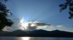 Lake santeetlah in smoky mountains Stock Footage