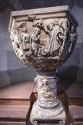 Baptismal Chapel of the cathedral of Avila, Spain Stock Photos