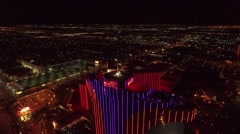 Rio Casino, Las Vegas- Aerial Night Footage Stock Footage