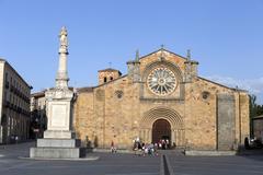 Santa Teresa Square, Church of San Pedro, Avila Stock Photos