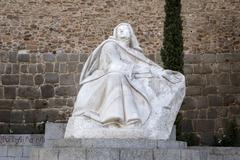 Monument of Saint Teresa of Avila, Avila, Spain Stock Photos