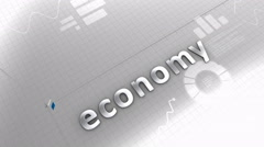 Growing chart Economy, statistic, data, performance. Stock Footage