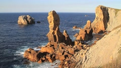 Rocks in the sea,two Stock Footage