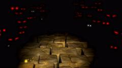 Spooky maze, monster, mystery. Stock Footage