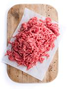 Minced Meat (isolated on white) Stock Photos