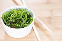 Portion of Kelp Salad Stock Photos