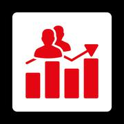 Stock Illustration of Audience Graph Icon