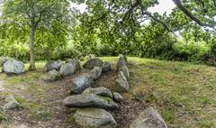 megalithic grave - stock photo