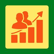 Audience Growth Icon - stock illustration