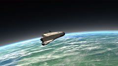 Spaceship reentry, descending Stock Footage