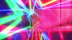 Disco Star Lasers Stock Footage