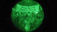 PVS-14 of Black Lives Matter - stock footage