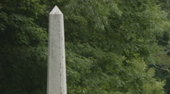 Obelisk Monument in Cemetery, Pillar Tombstone Grave Marker Stock Footage