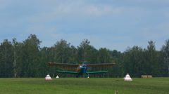 Stock Video Footage of Antonov-2 biplane on aerodrome