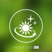 Stock Illustration of Vector icon sun outdoor sunlight shine