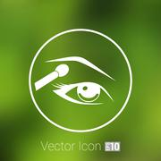 vector with beautiful female eyes different makeup - stock illustration