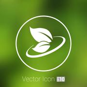 Leaf icon symbol nature vector sign element Stock Illustration
