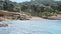 Rock Forest Beach Porto Conte Sardinia Italy - 25FPS PAL Stock Footage
