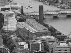 Stock Photo of Black and white Aerial view of London