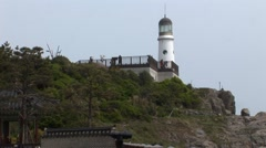 Light House on a cliff Stock Footage