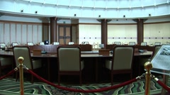 South Korea Government Meeting room Stock Footage