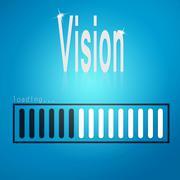 Vision blue loading bar Stock Illustration