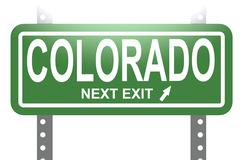 Colorado green sign board isolated Stock Illustration